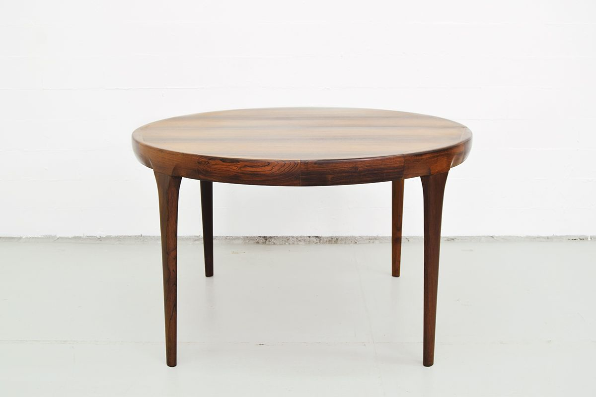 Round Extendable Rosewood Dining Table from Faarup Møbelfabrik ...