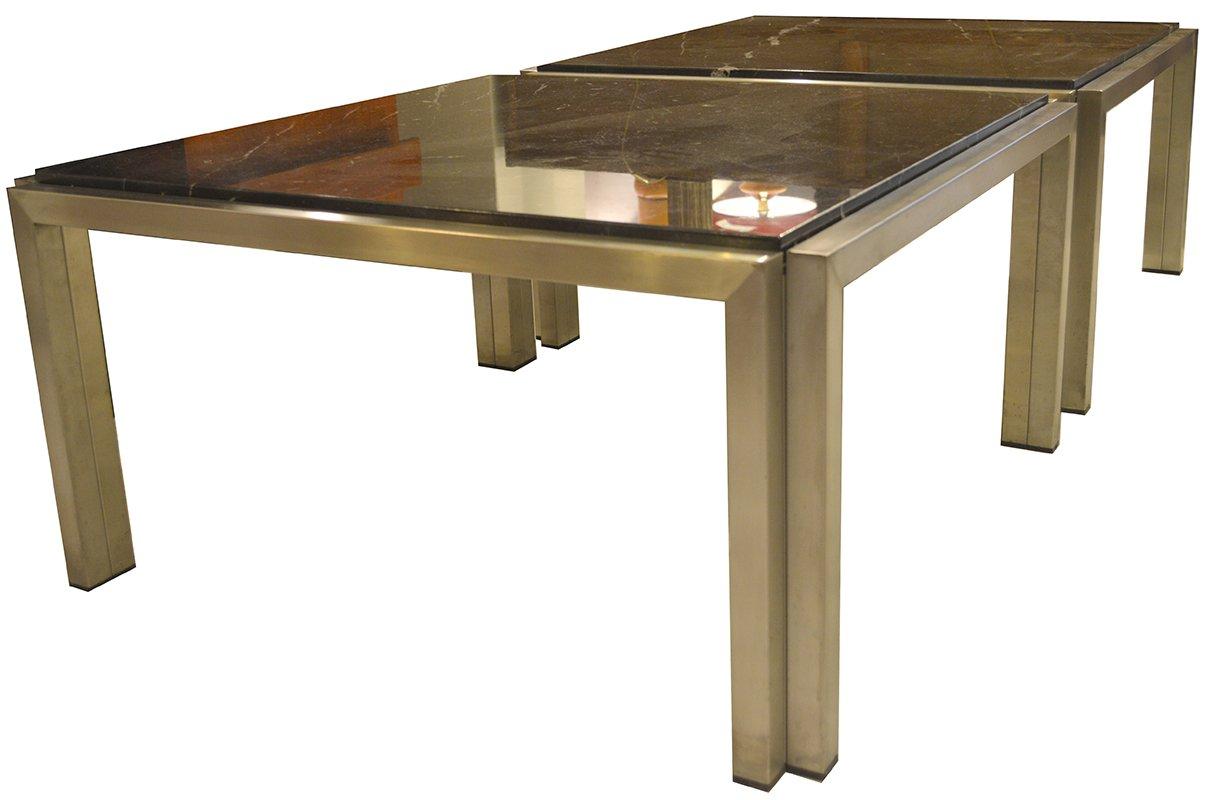 schwarze carrara marmor couchtische 1960er 2er set bei. Black Bedroom Furniture Sets. Home Design Ideas