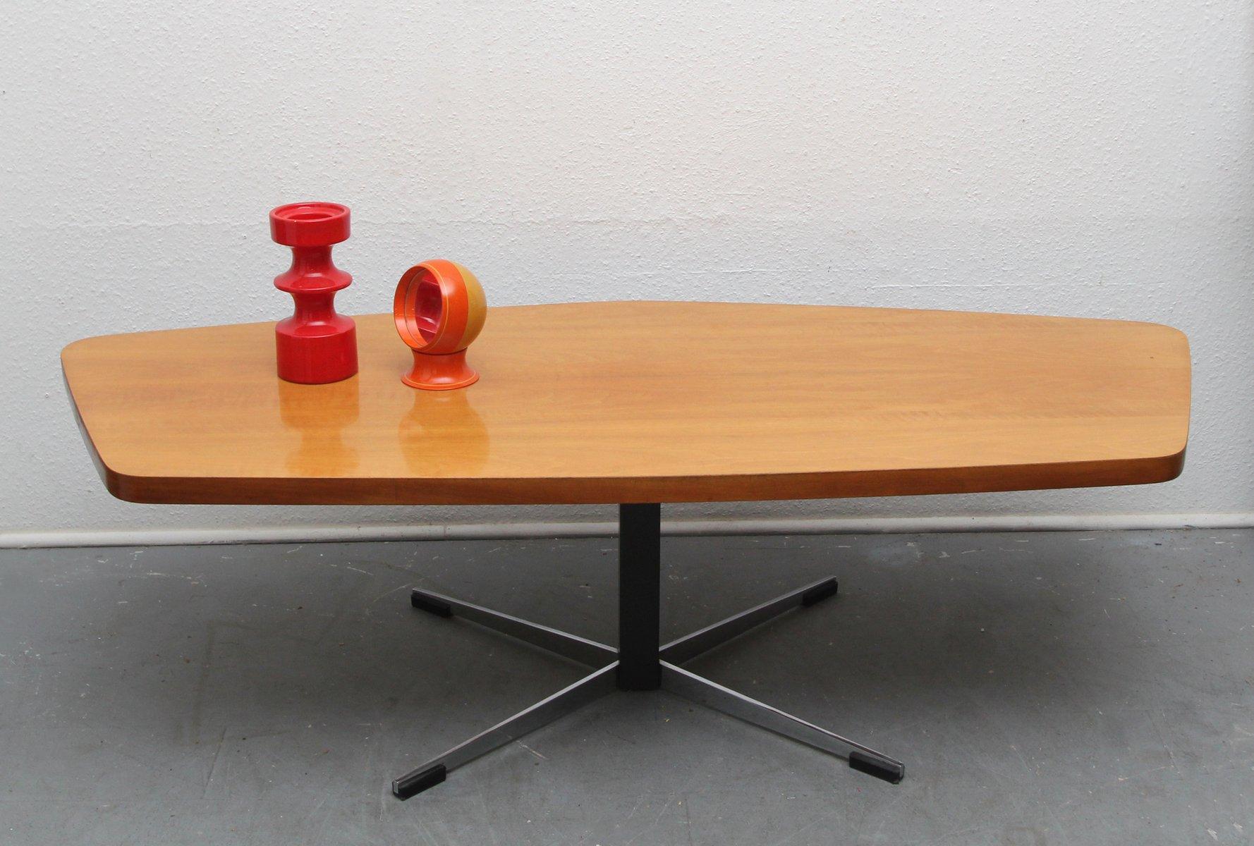 couchtisch aus chrom nussholz 1960er bei pamono kaufen. Black Bedroom Furniture Sets. Home Design Ideas