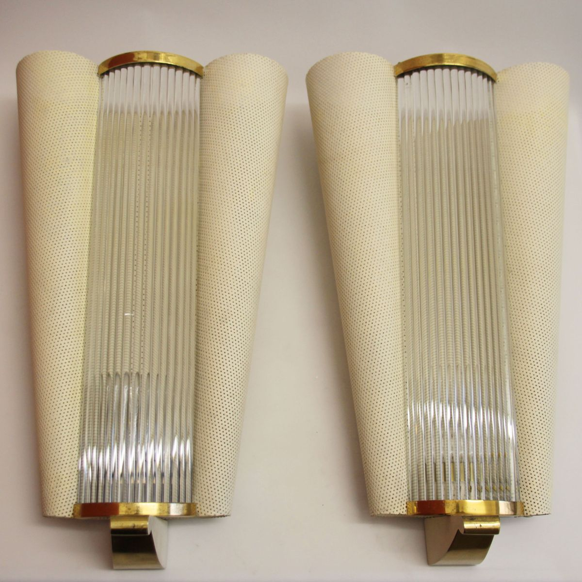 french midcentury wall sconces with glass rods from petitot  - french midcentury wall sconces with glass rods from petitot s set of