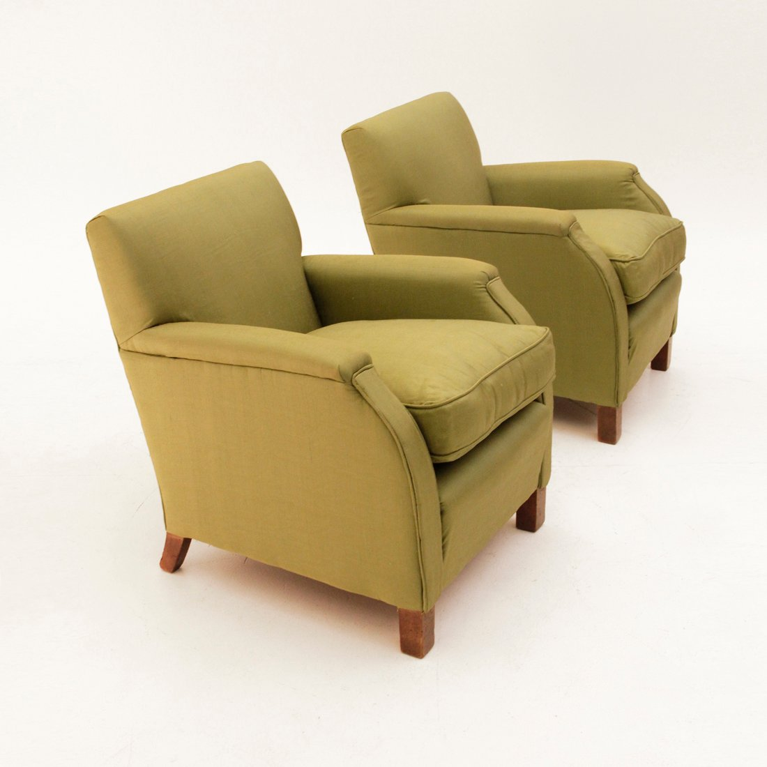 italienische gr ne sessel 1930er 2er set bei pamono kaufen. Black Bedroom Furniture Sets. Home Design Ideas