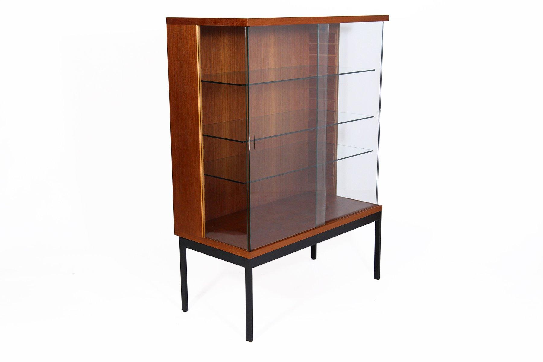 vitrine aus teak von dieter waeckerlin f r behr m bel 1958 bei pamono kaufen. Black Bedroom Furniture Sets. Home Design Ideas