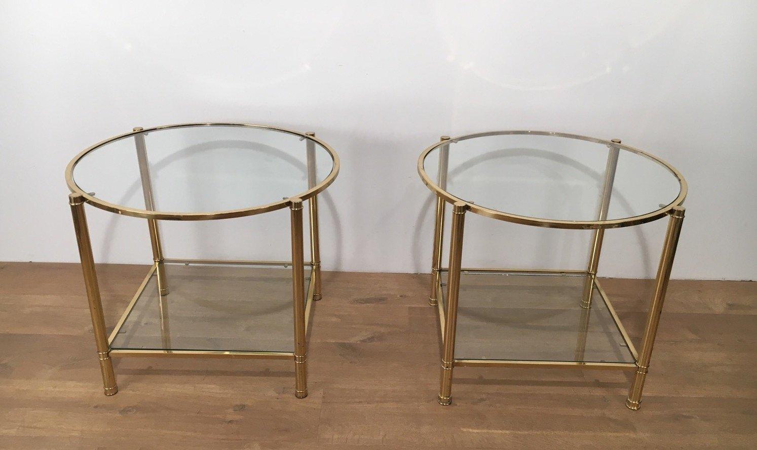 Vintage End Sofa Tables, Set Of 2