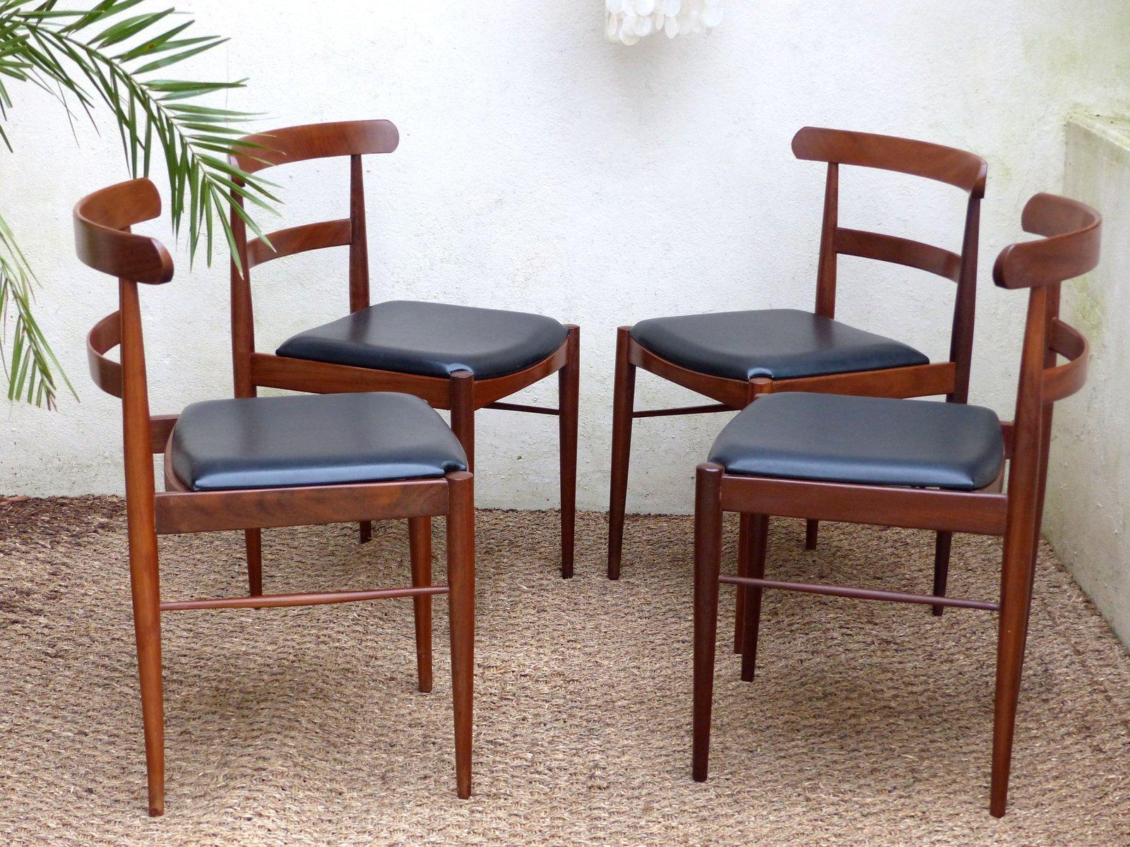 skandinavische palisander st hle 1970er 4er set bei. Black Bedroom Furniture Sets. Home Design Ideas