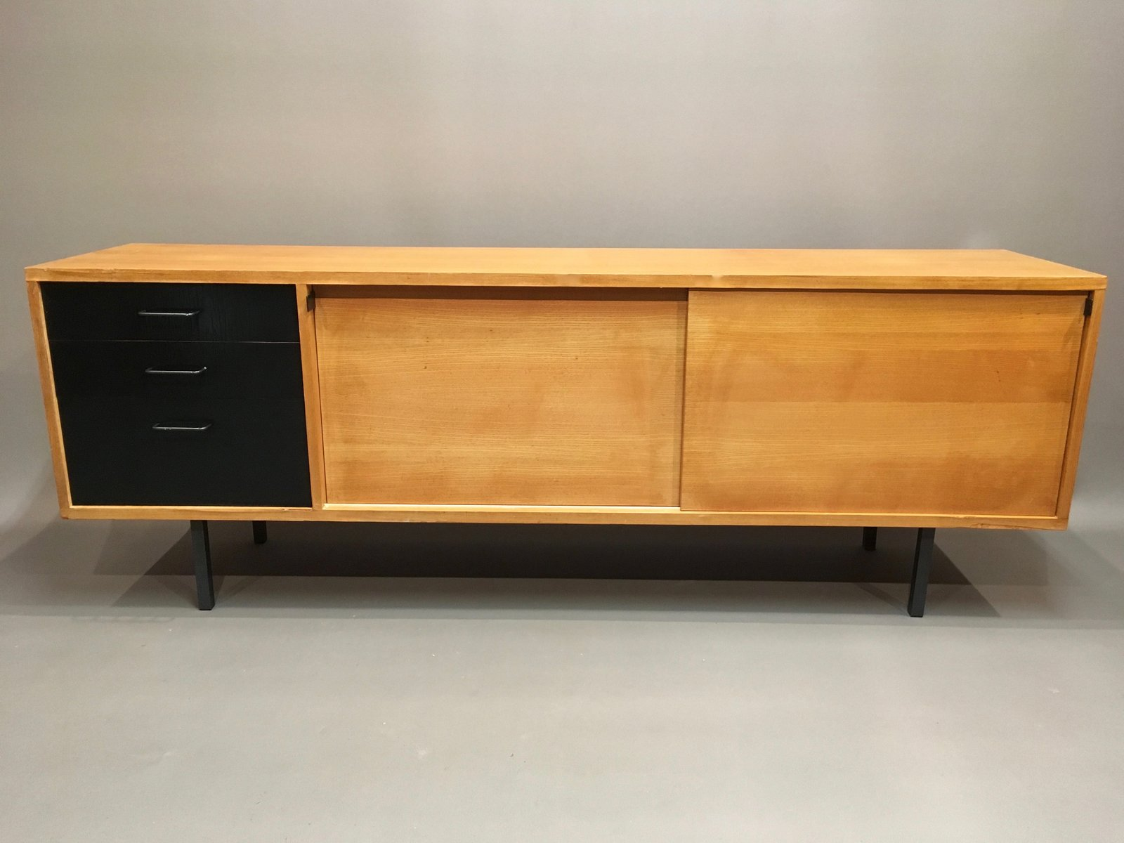 oak and metal sideboard s for sale at pamono - oak and metal sideboard s