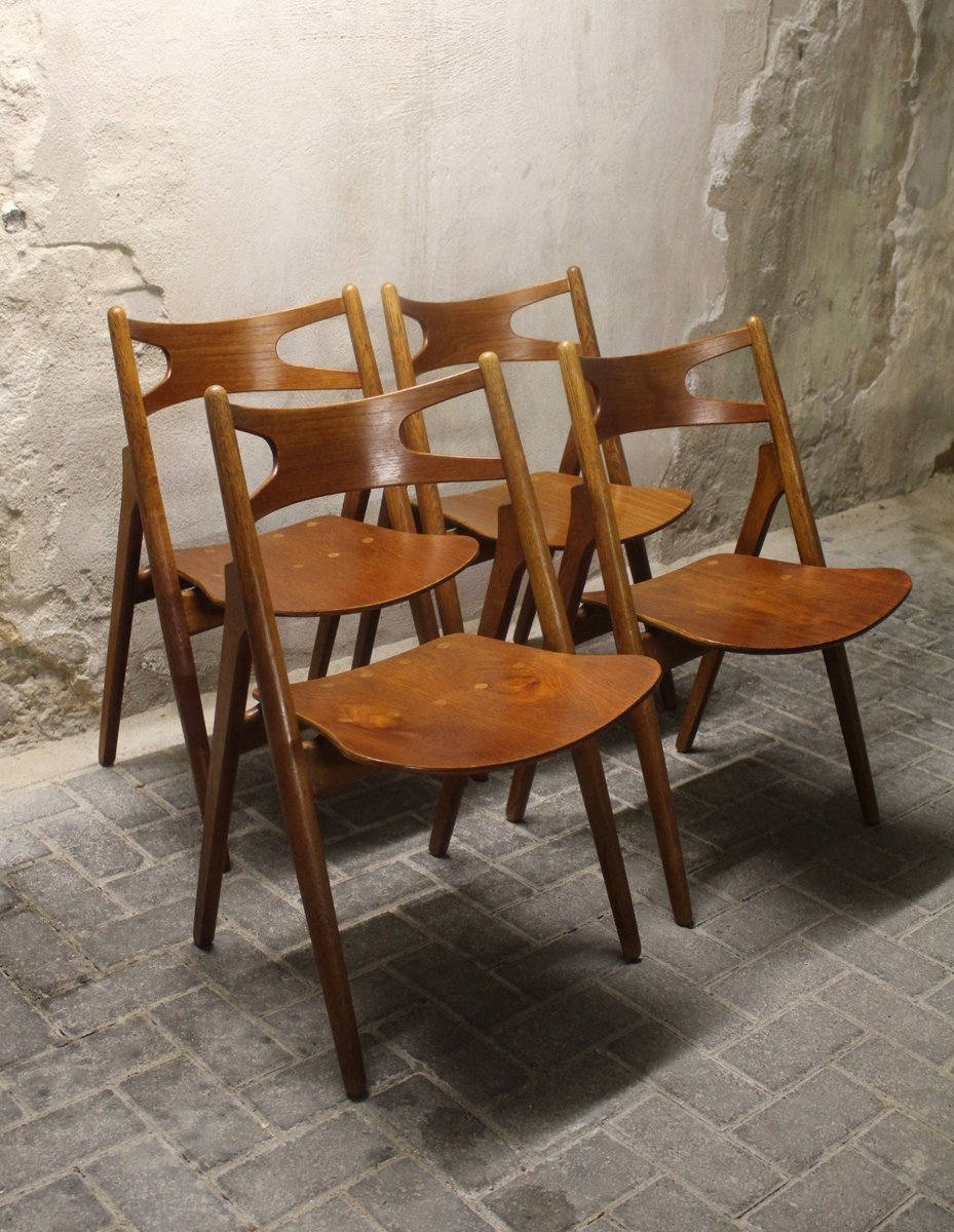 Model CH29 Chairs by Hans Wegner Sawbuck for Carl Hansen Son