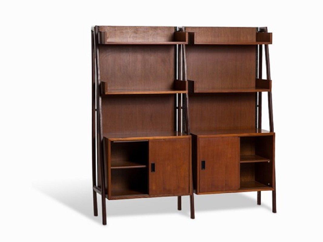 teak free standing shelf unit 1960s - Free Standing Bookshelves