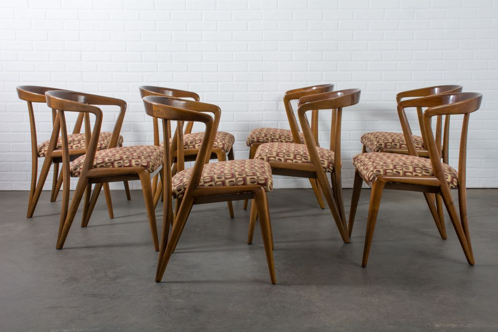 midcentury dining chairs by bertha schaefer set of 8 for sale at pamono