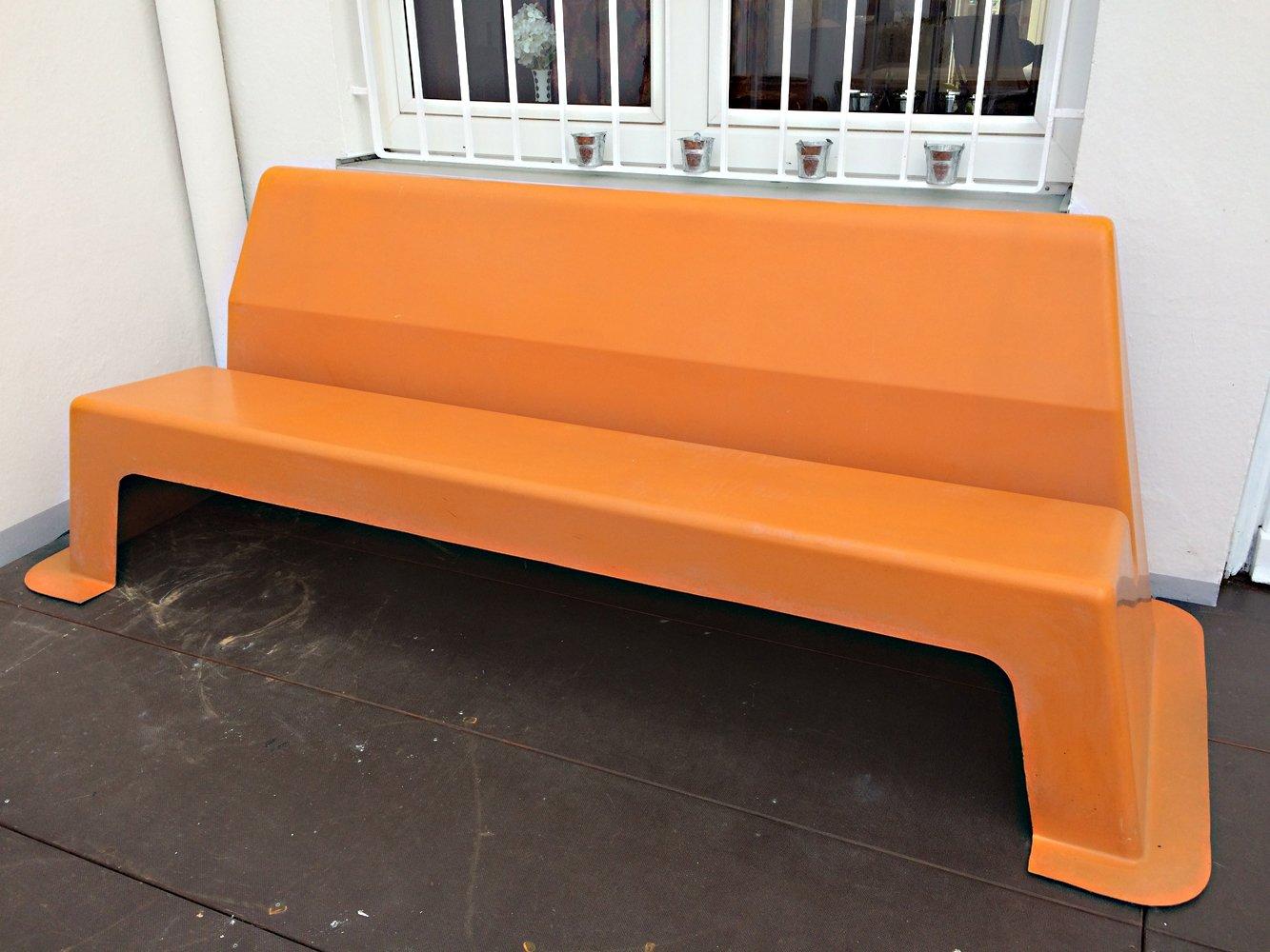 Fiberglass Garden Bench : Vintage orange fiberglass bench for sale at pamono