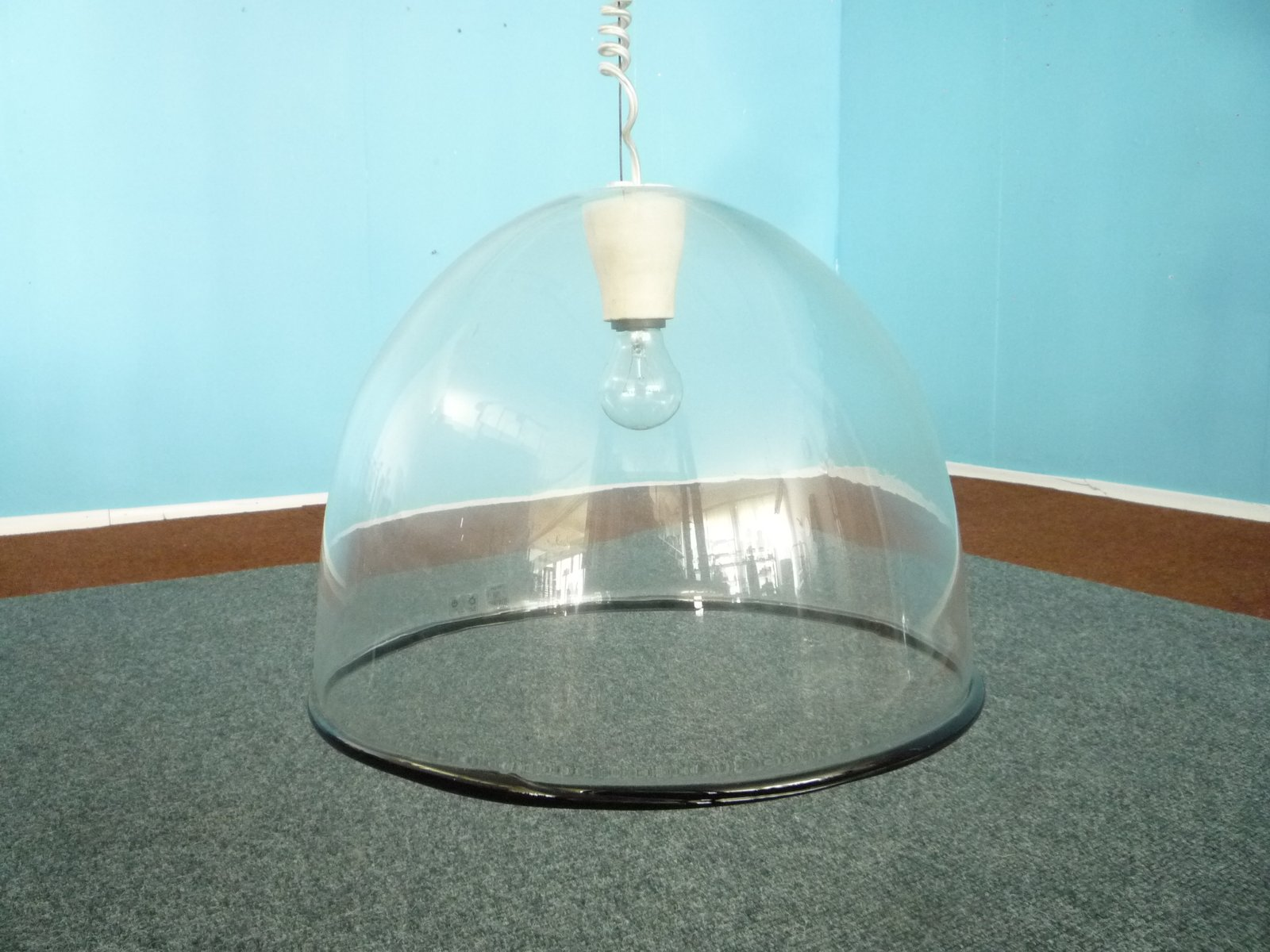 Glass Hanging Lamp By Renato Toso 1968 For Sale At Pamono
