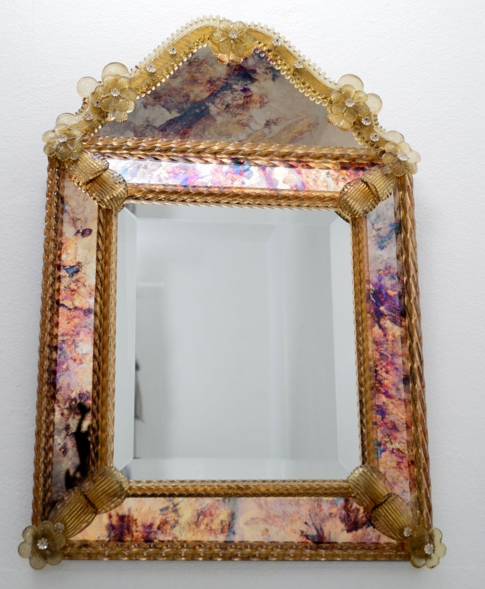 Decorative venetian glass mirror 1970s for sale at pamono for Glass and mirror company