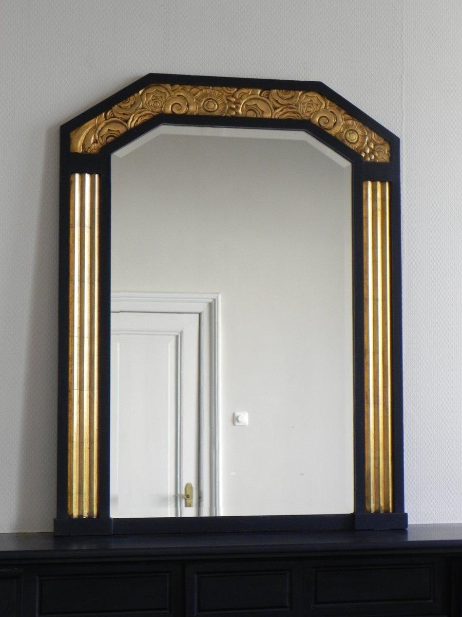 miroir art d co avec verre biseaut 1930s en vente sur pamono. Black Bedroom Furniture Sets. Home Design Ideas