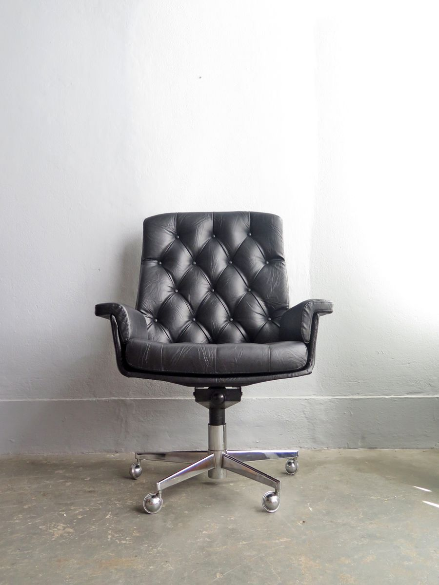 Vintage Capitone Highback Desk Chair For Sale At Pamono