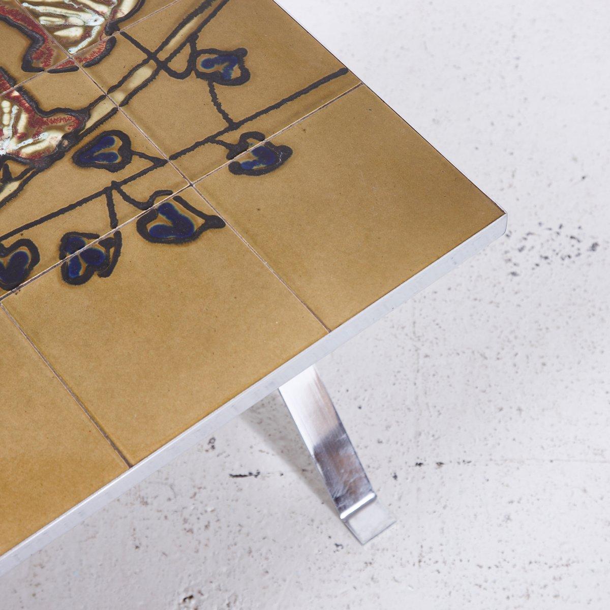 Vintage Couchtisch mit Mosaik Tischplatte bei Pamono kaufen