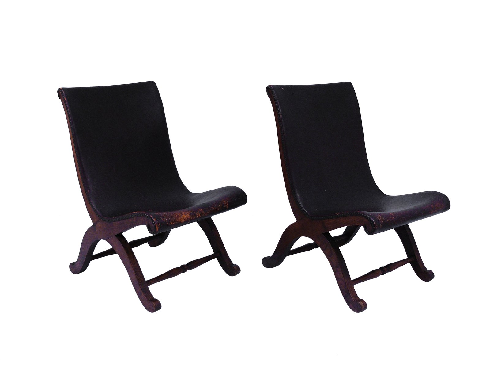slipper chairs by pierre lottier for valenti 1940s set of 2 for sale at pamono