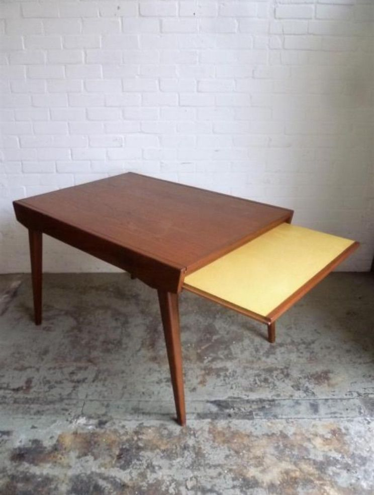 Vintage Teak Extendable Dining Table with Yellow Formica  : vintage teak extendable dining table with yellow formica leaf 1960s 3 from www.pamono.com size 744 x 983 jpeg 57kB