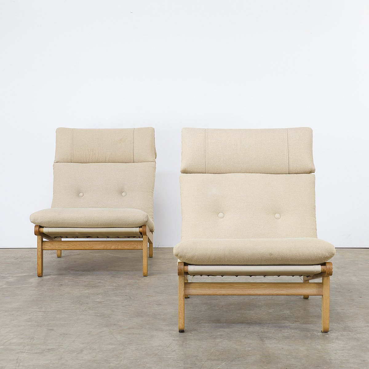 A Frame Easy Chairs Ottoman Coffee Table By Bernt Petersen For Schiang 1960s For Sale At Pamono