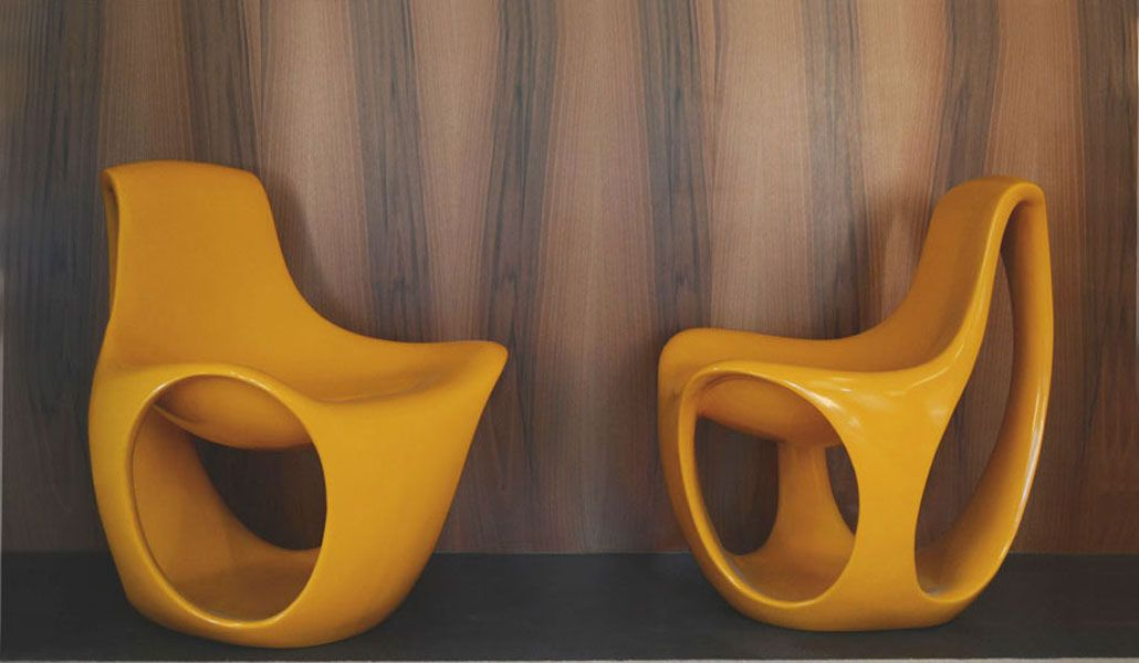 Space Age Fiberglass Chairs, Set Of 2 For Sale At Pamono