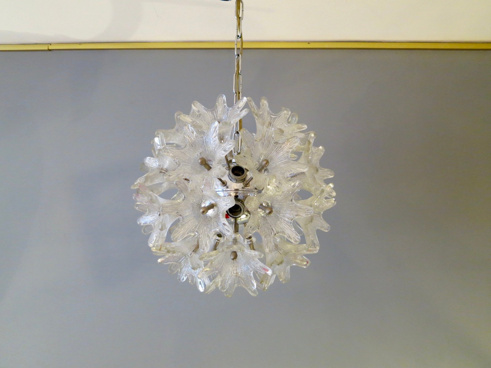 murano glass flower chandelier 1960s for sale at pamono. Black Bedroom Furniture Sets. Home Design Ideas