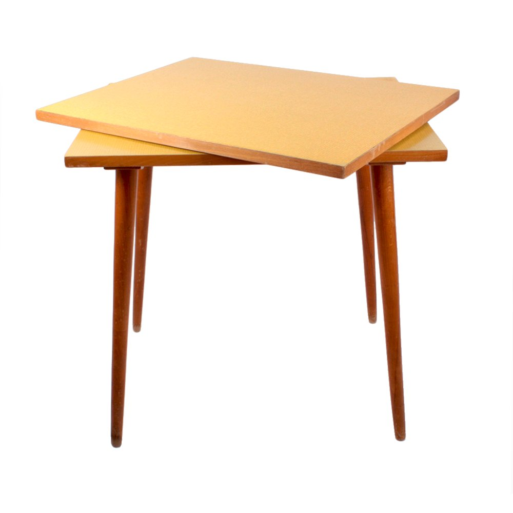 Czech formica side table with swivel top 1960s for sale for Formica table