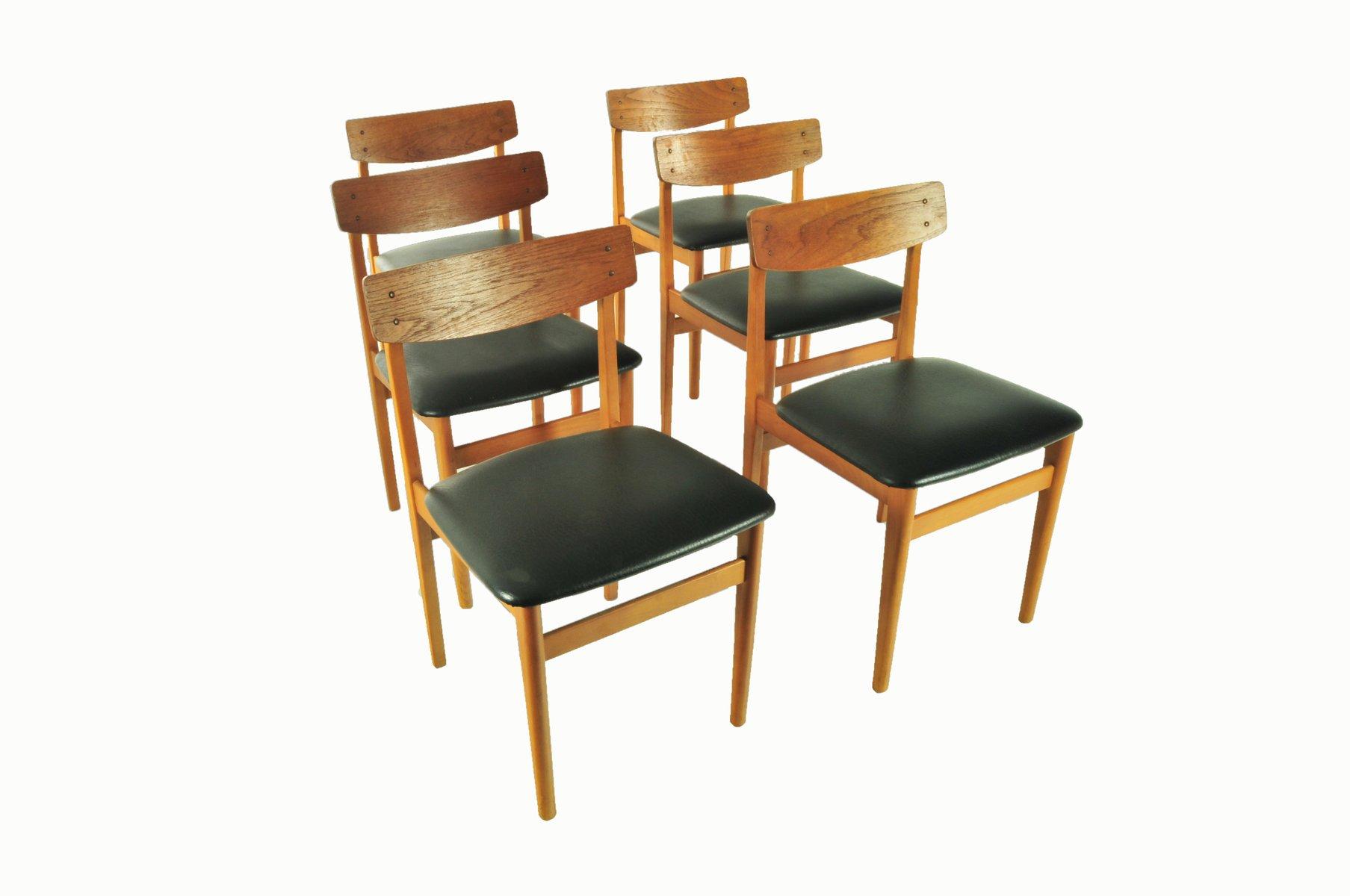 vintage skai esszimmerst hle 1960er 6er set bei pamono. Black Bedroom Furniture Sets. Home Design Ideas