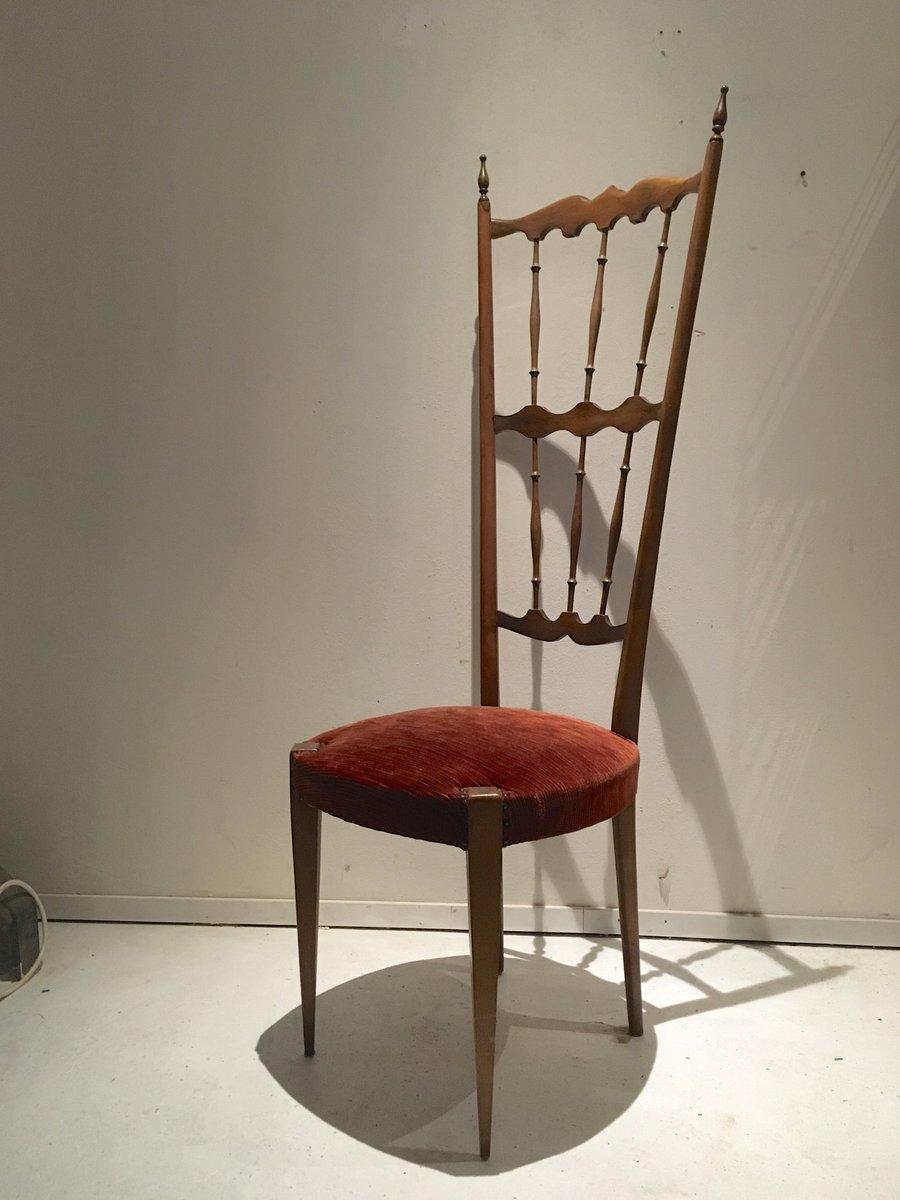 Sedia con schienale alto chiavari italia anni 39 40 in - Schienale sedia ...