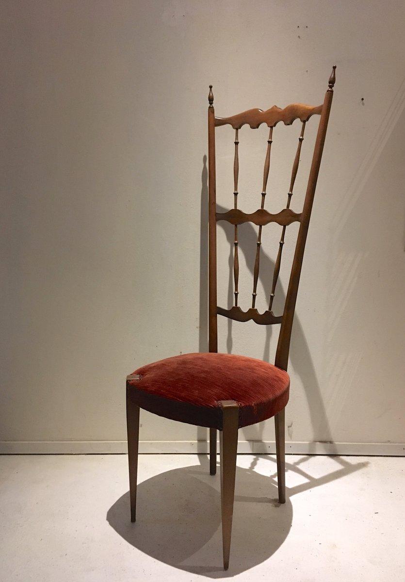 Sedia con schienale alto chiavari italia anni 39 40 in for Sedia anni 40