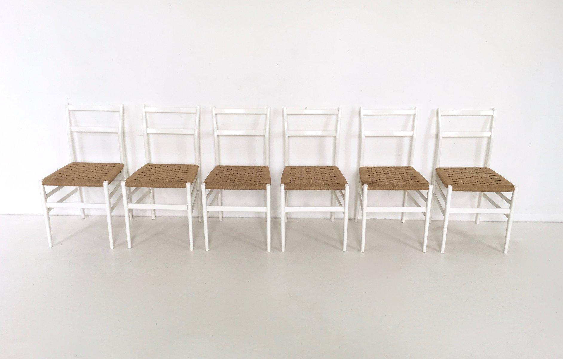 Leggera No 646 Chairs by Gio Ponti for Cassina 1952 Set of 12