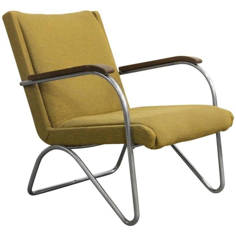 gelber sessel von l c van der vlugt f r brinkman van der vlugt 1930er bei pamono kaufen. Black Bedroom Furniture Sets. Home Design Ideas