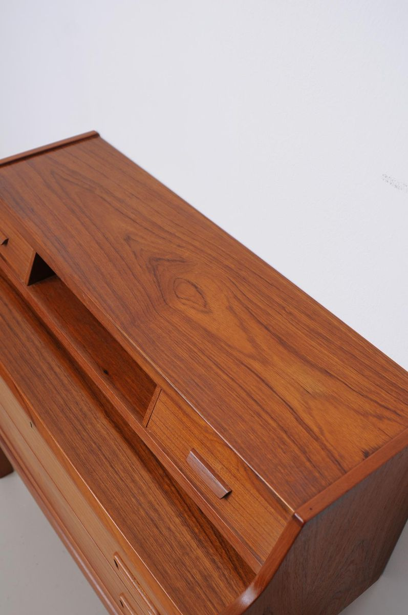 mid century teak sekret r von arne wahl iversen f r vinde. Black Bedroom Furniture Sets. Home Design Ideas