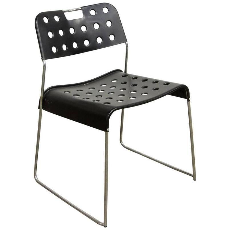 Beautiful sedia omstak nera di rodney kinsman per for Sedia design anni 70