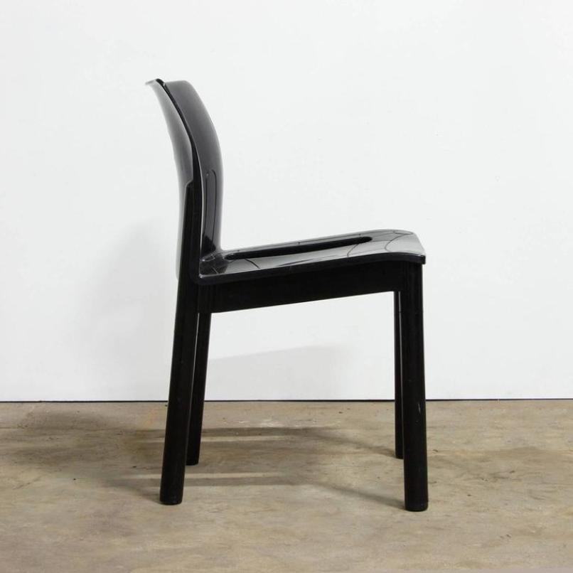 schwarzer 4870 plastik stuhl von anna castelli ferrieri f r kartell 1990er bei pamono kaufen. Black Bedroom Furniture Sets. Home Design Ideas