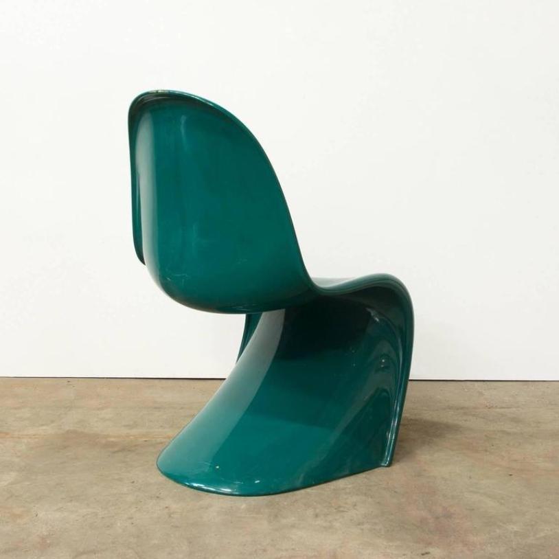 gr ner stapelbarer stuhl von verner panton f r herman miller 1960er bei pamono kaufen. Black Bedroom Furniture Sets. Home Design Ideas
