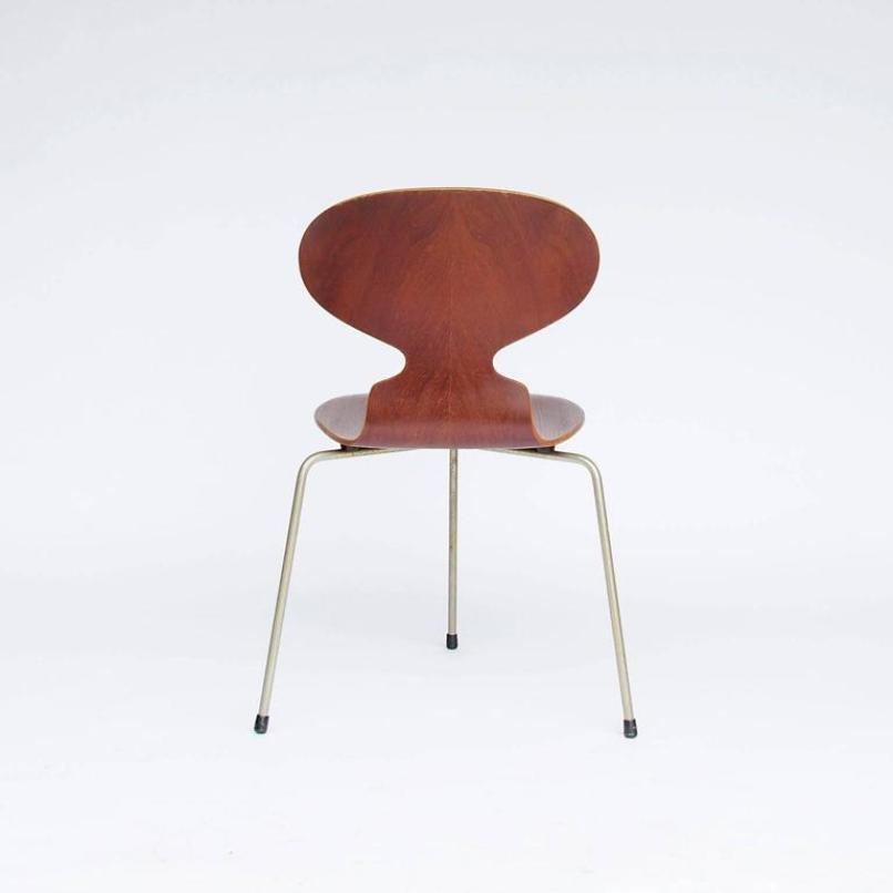 vintage ant st hle von arne jacobsen f r fitz hansen 4er. Black Bedroom Furniture Sets. Home Design Ideas