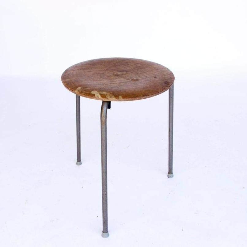 Vintage stackable wooden stool by arne jacobsen for
