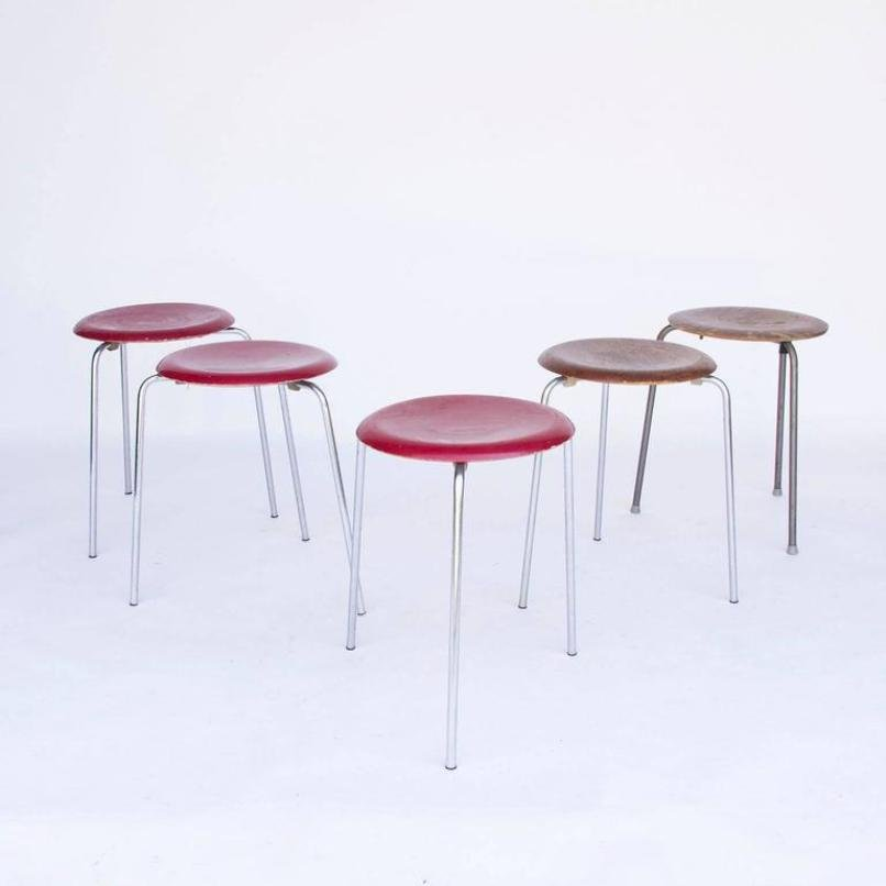 Stackable Wood Stools ~ Vintage stackable wooden stool by arne jacobsen for