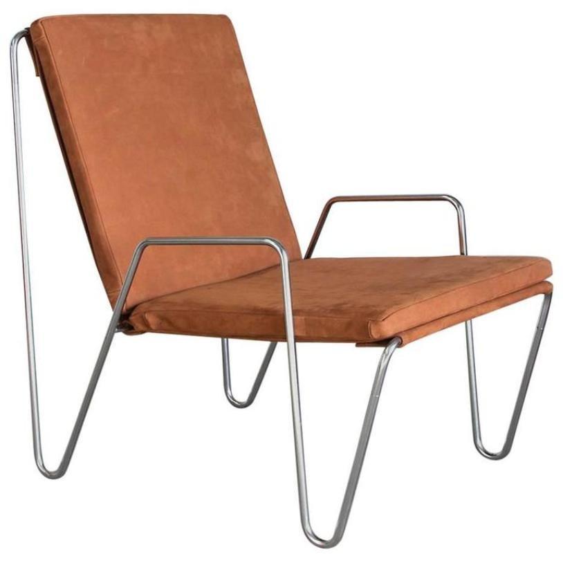 Vintage bachelor stuhl aus wildleder von verner panton f r for Stuhl wildleder