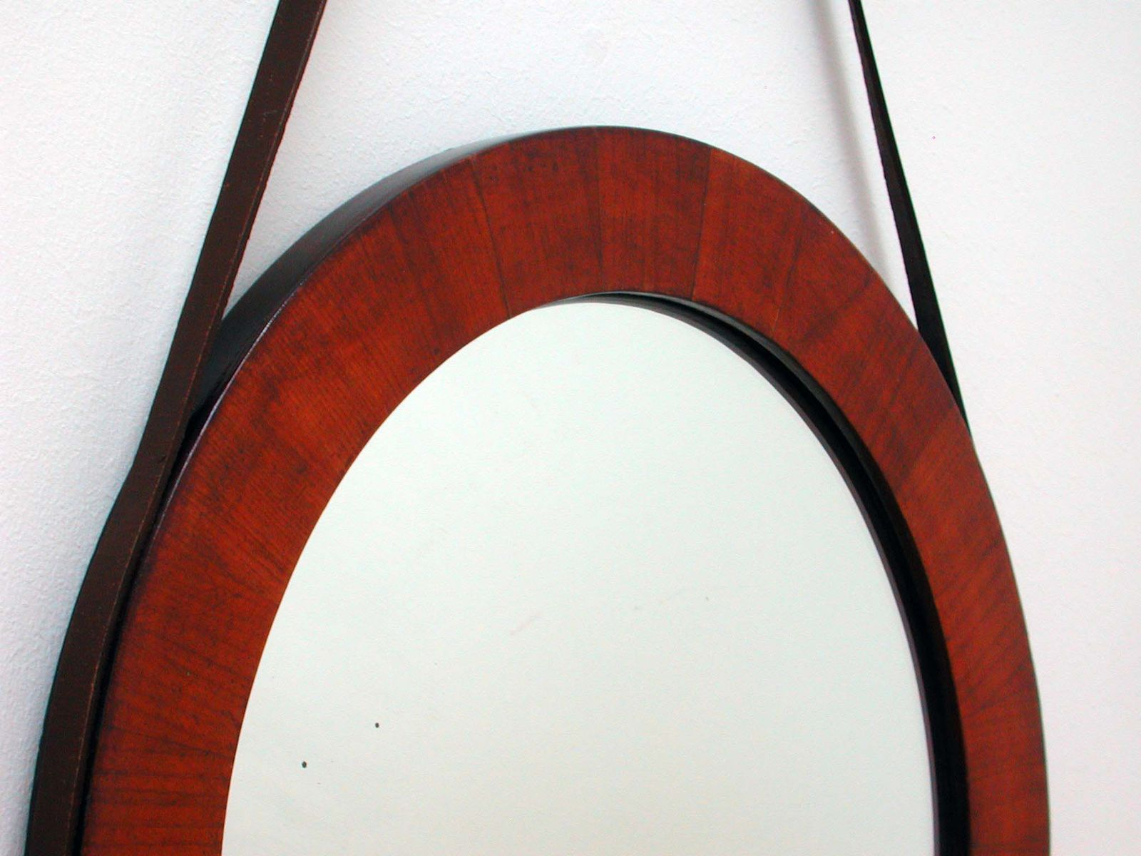 Convex Wall Mirror mid-century teak convex wall mirror, 1950s for sale at pamono
