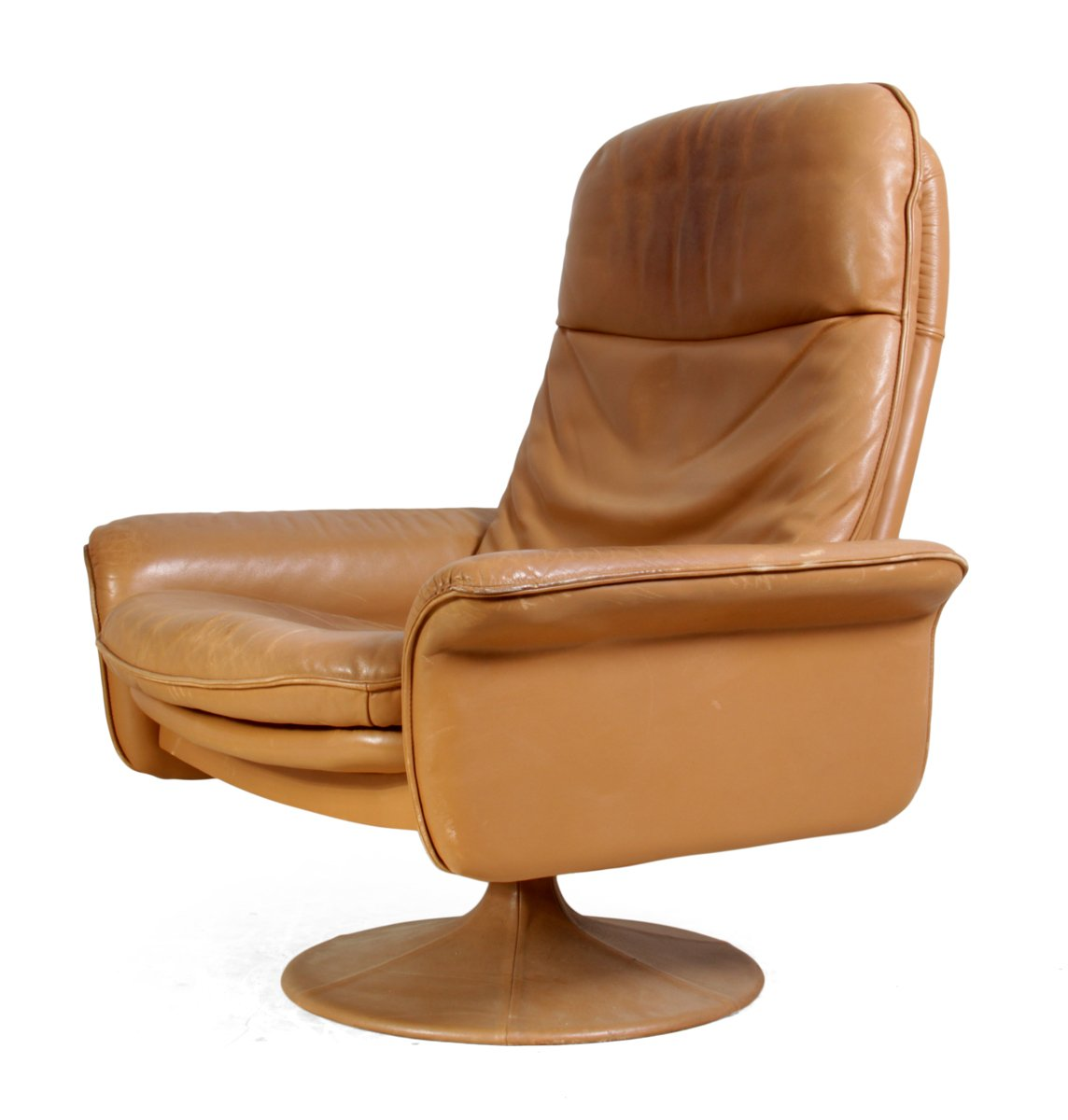 leder drehsessel von de sede 1960er bei pamono kaufen. Black Bedroom Furniture Sets. Home Design Ideas