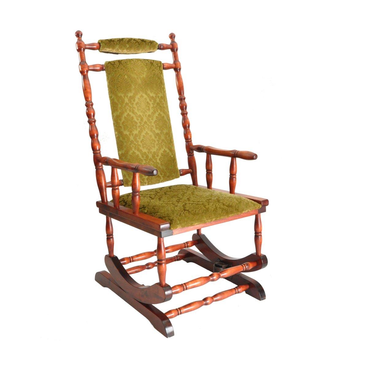 skandinavischer holz schaukelstuhl 1950er bei pamono kaufen. Black Bedroom Furniture Sets. Home Design Ideas