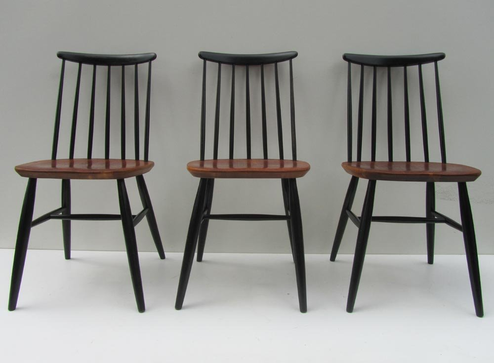Scandinavian spindle back chairs 1950s set of 3 for sale at pamono - Sedia scandinava ...