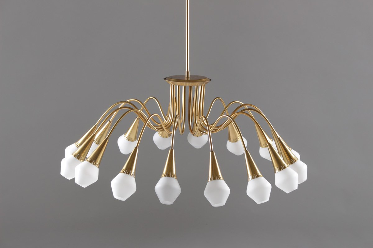 starburst chandelier from snnico 1950s for sale at pamono - Starburst Chandelier