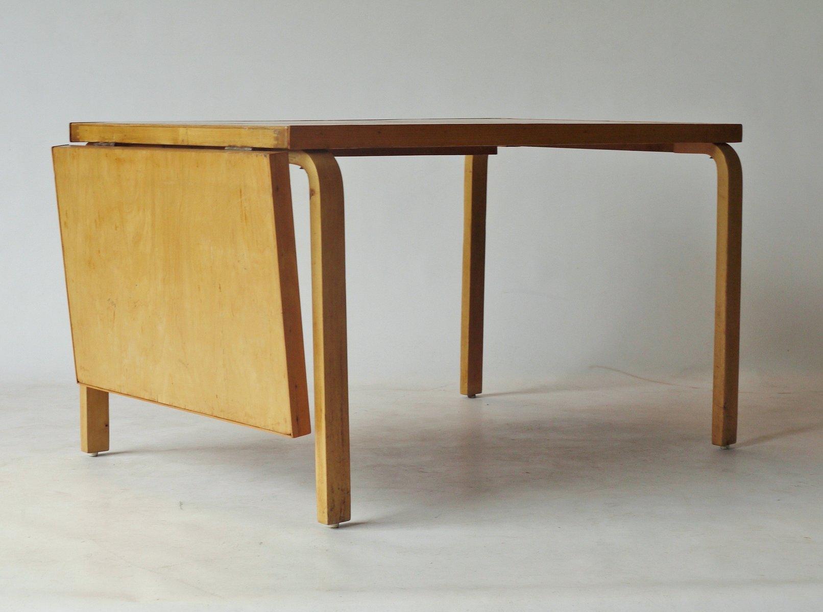 verl ngerbarer esstisch von alvar aalto f r artek 1940er bei pamono kaufen. Black Bedroom Furniture Sets. Home Design Ideas