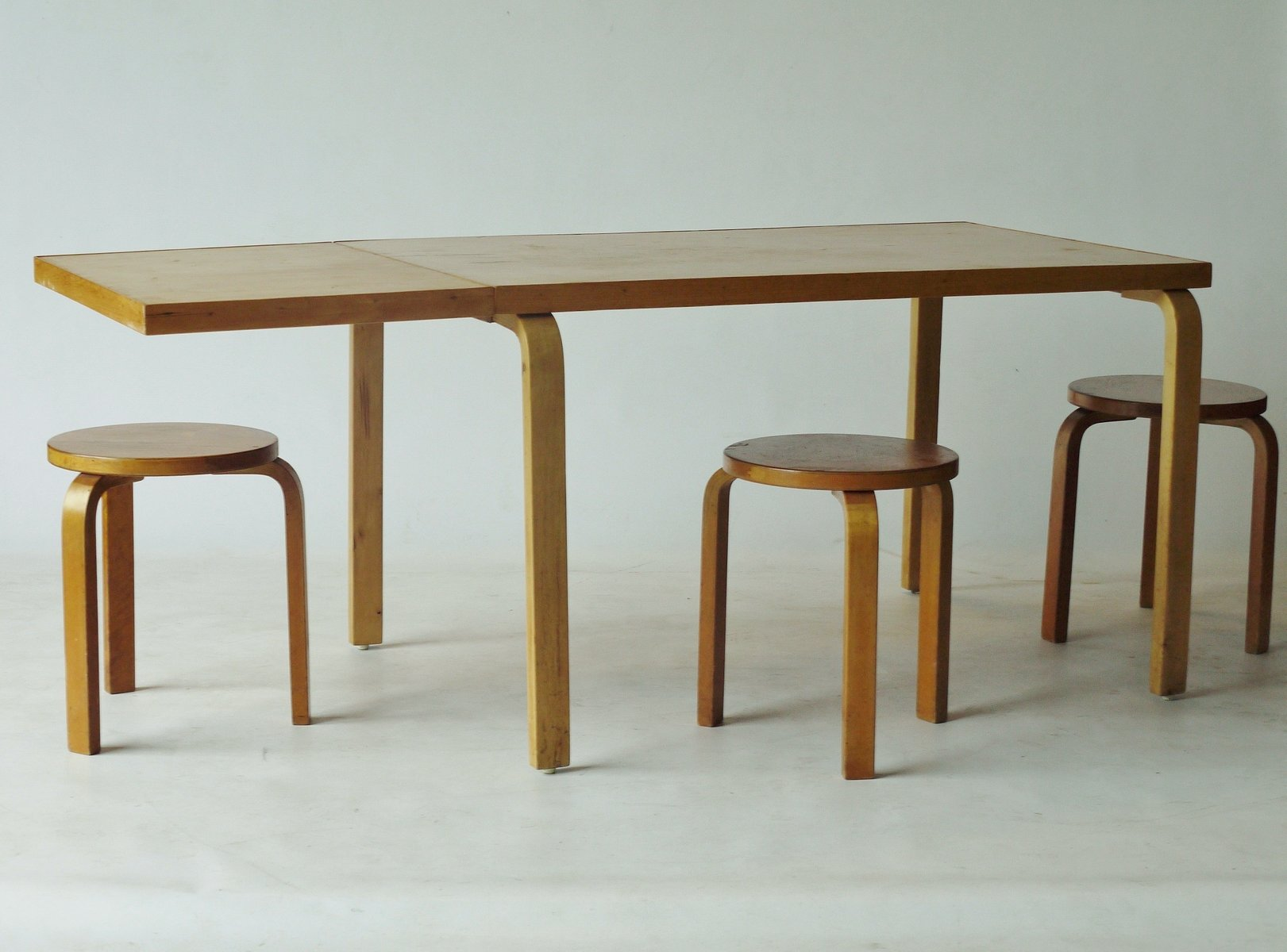 Drop Leaf Extendable Dining Table By Alvar Aalto For Artek