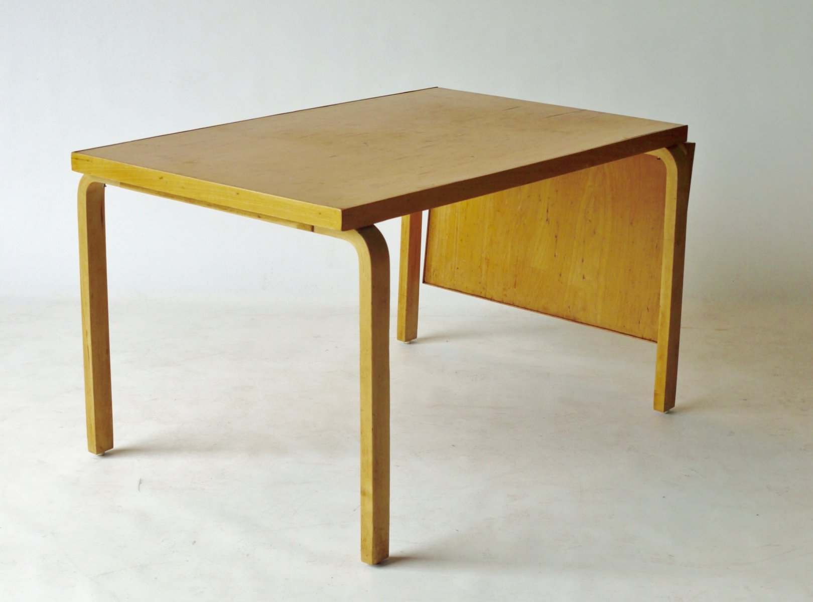 Wonderful Drop Leaf Extendable Dining Table By Alvar Aalto For Artek, 1940s