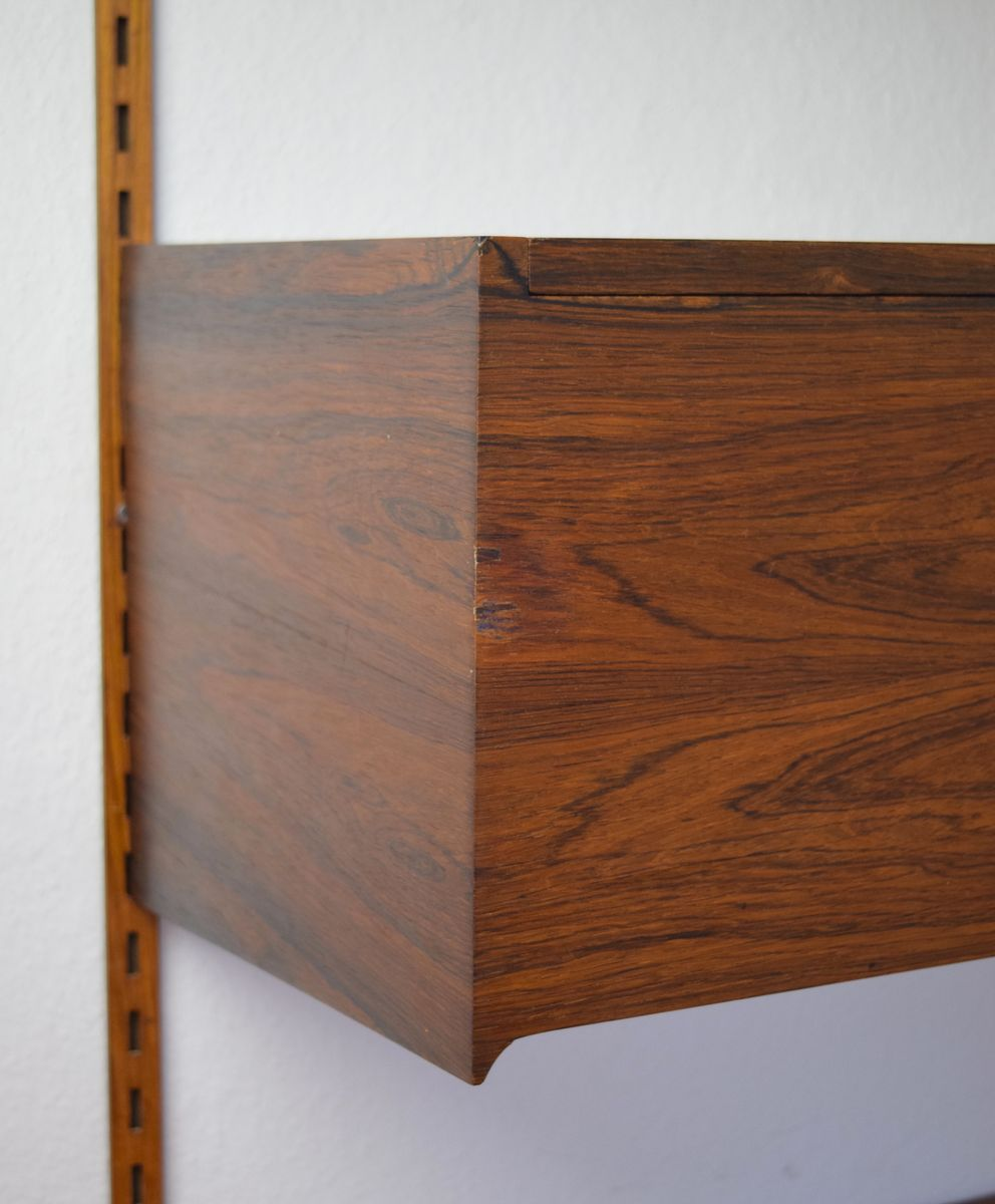 1960s Record Cabinet Rosewood Hanging Record Player Cabinet By Kai Kristiansen For