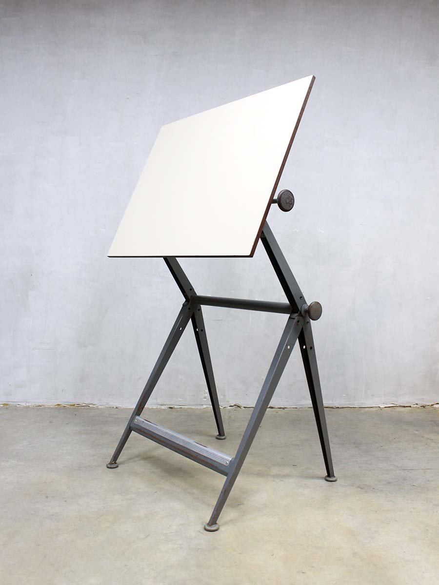 Vintage Drawing Table By Wim Rietveld And Friso Kramer For Ahrend De  Cirkel, 1950s