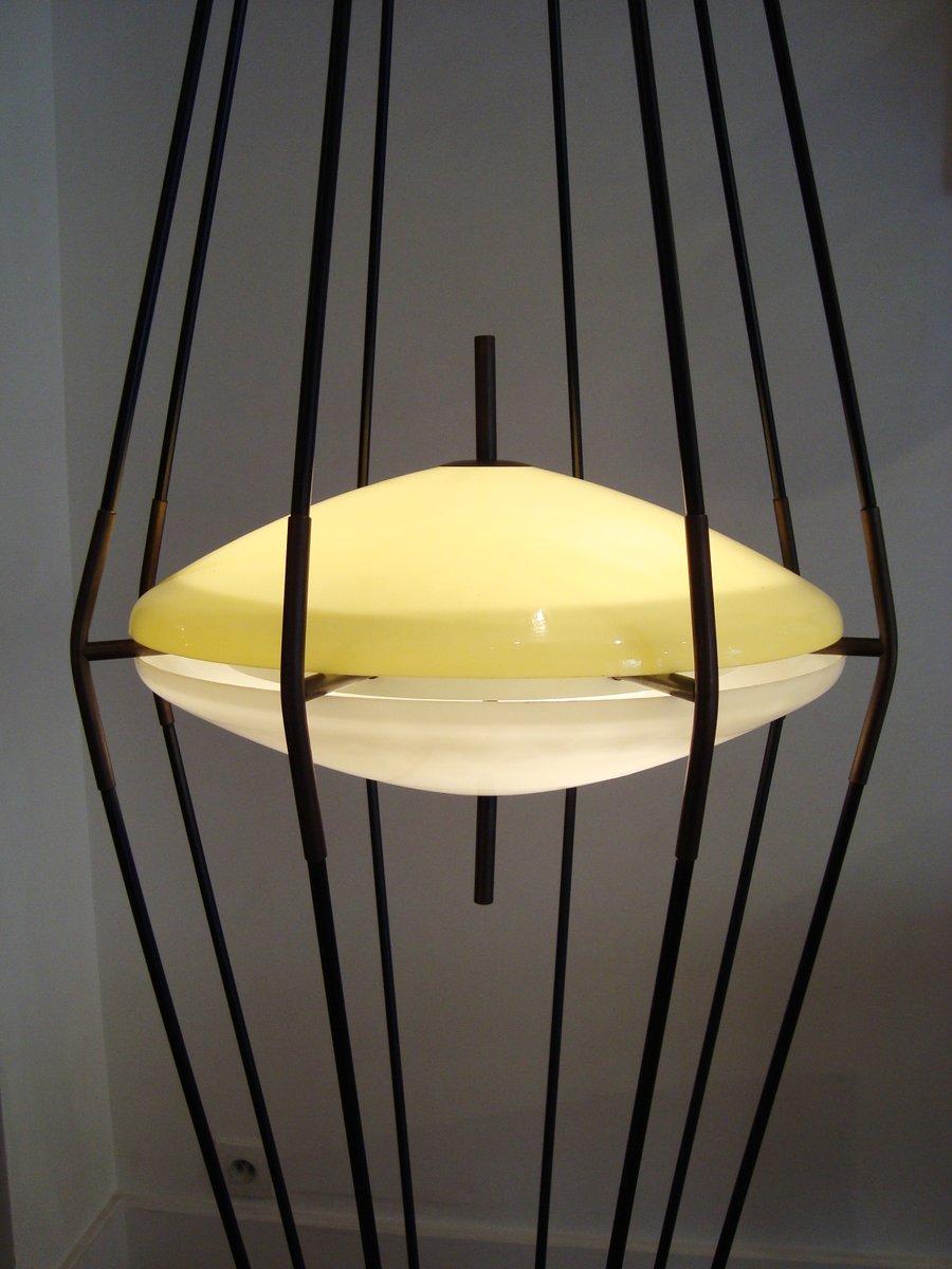 Large ufo floor lamp by angelo lelli for arredoluce 1958 for Arredo luce