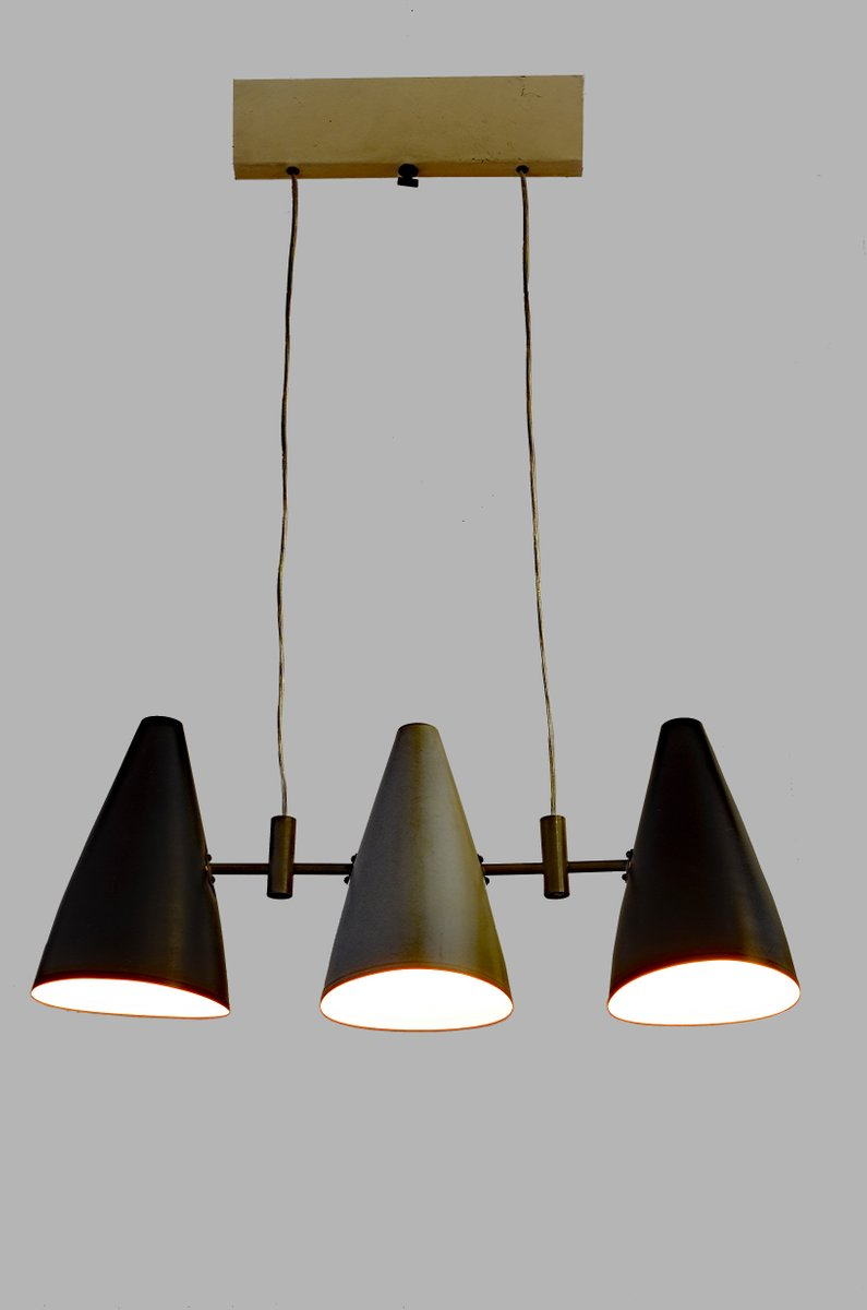 Italian pendant lamp with three lights 1950s for sale at pamono - Italian pendant lights ...