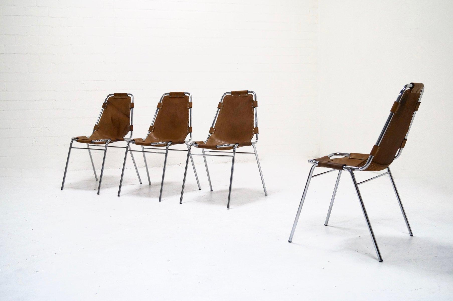 chaises de salon les arcs par charlotte perriand set de 4 en vente sur pamono. Black Bedroom Furniture Sets. Home Design Ideas